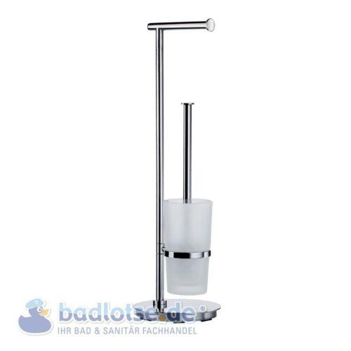 SMEDBO OUTLINE LITE glänzend Stand-WC-Bürstengarnitur Papierhalter Klo FK607
