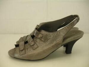 Aerosoles-Womens-10-M-Satisfaxtion-Leather-Gray-Slingback-Shoes-Pump-Sandal-Heel