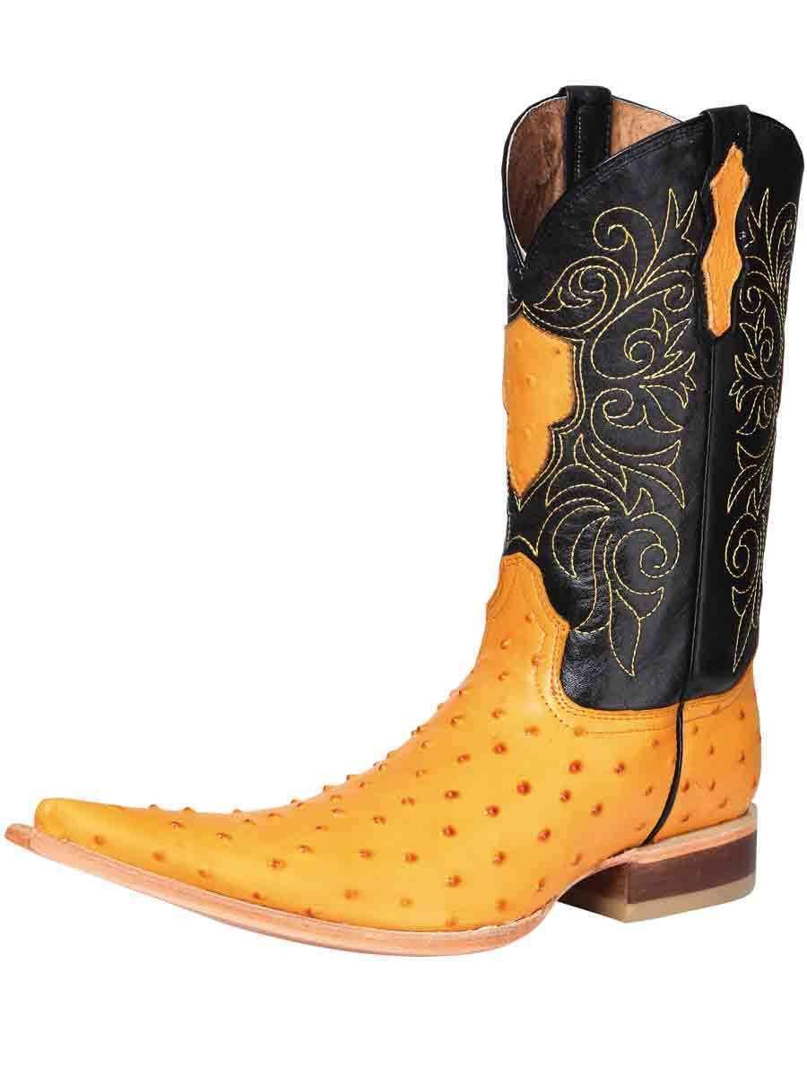 Cowboy Boots Bota Vaquera El General (Spcls) Piel Imit. Avestruz ID 120708