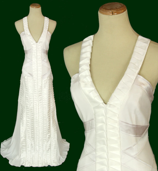 NWT Jovani Size 2 Prom Formal Evening Long  500 White Gown Sleeveless Dress