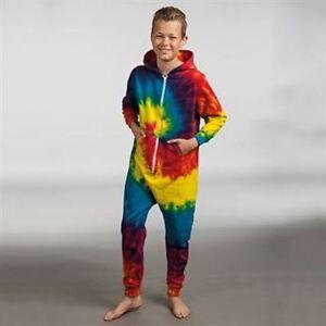 Bambini-Bimbi-Rainbow-Tie-Dye-ALLINONE-assortiti-Taglie-BNWT-Ideale-Danza-tempo-libero