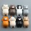 Hot-Home-Decor-Funny-Cat-Cartoon-Animals-Fridge-Magnet-Sticker-Refrigerator-Gift thumbnail 1