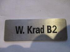 Nameplate BMW R75 W.Krad B2 Zündapp ks 750 Rihtar German armed forces WW 2. WK