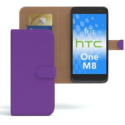 Tasche für HTC One M8 Case Wallet Schutz Hülle Cover Lila