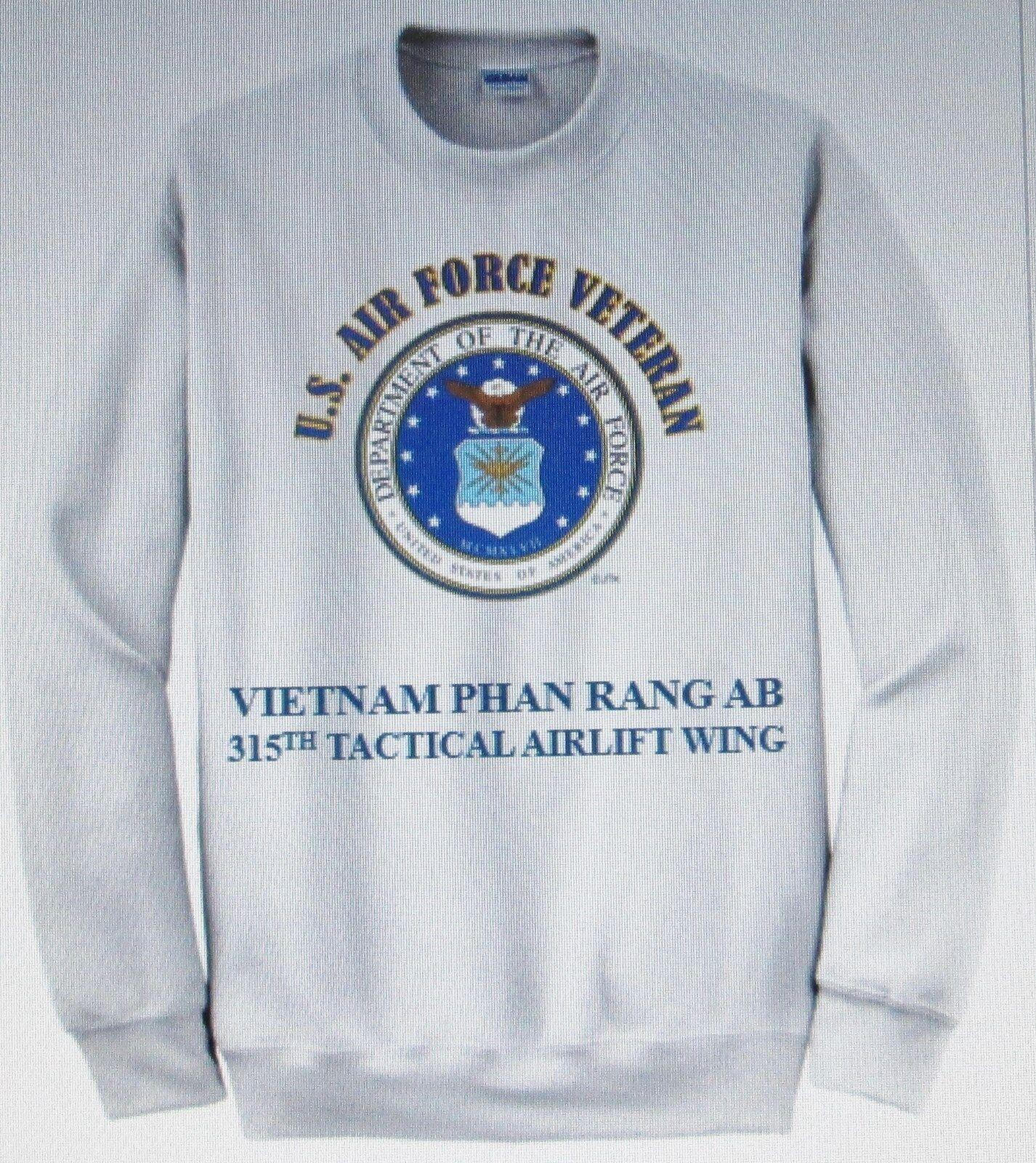 VIETNAM PHAN RANG AIR BASE315TH TAW U.S. AIR FORCE EMBLEM SWEATSHIRT