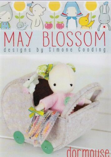 cute felt softie toy PATTERN from May Blossom Dormouse PATTERN