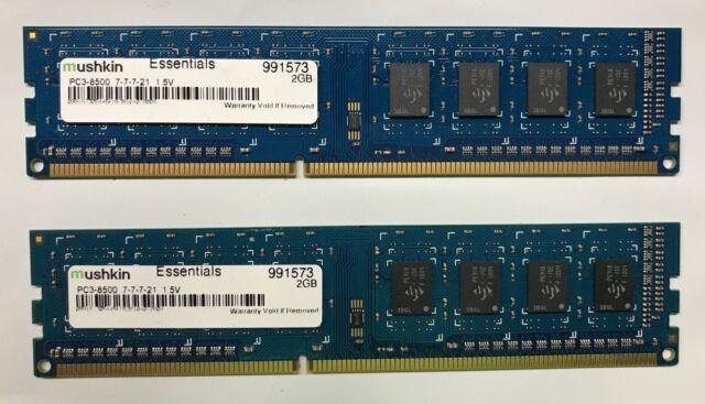 Mushkin Pc3 10666 4 Gb Udimm 1333 Mhz Ddr3 Sdram Memory 991769 Ebay