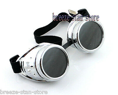 silver CYBER GOGGLES STEAMPUNK WELDING GOTH League of Legends LOL Ezreal COSPLAY