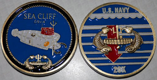 DSV-4 NAVY USS SEA CLIFF SUBMERSIBLE RESEARCH VEHICLE CHALLENGE COIN