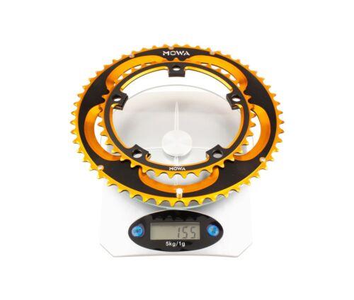 MOWA Road Cyclocross CX Cycling Bike Chainwheel Chainring Set 53//39t Gold