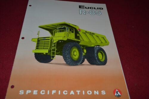 Euclid EUC R-85 Rock Haul Truck Dealer's Brochure DCPA6 ver3
