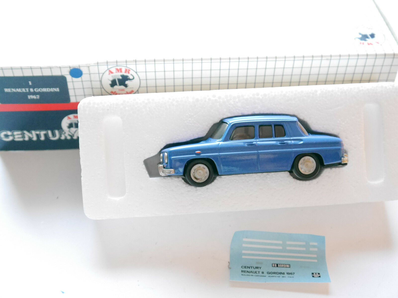 RENAULT R 8 r8 Gordini 1967 in Bleu Bleu bleu bleu, Century en 1 43 en boîte