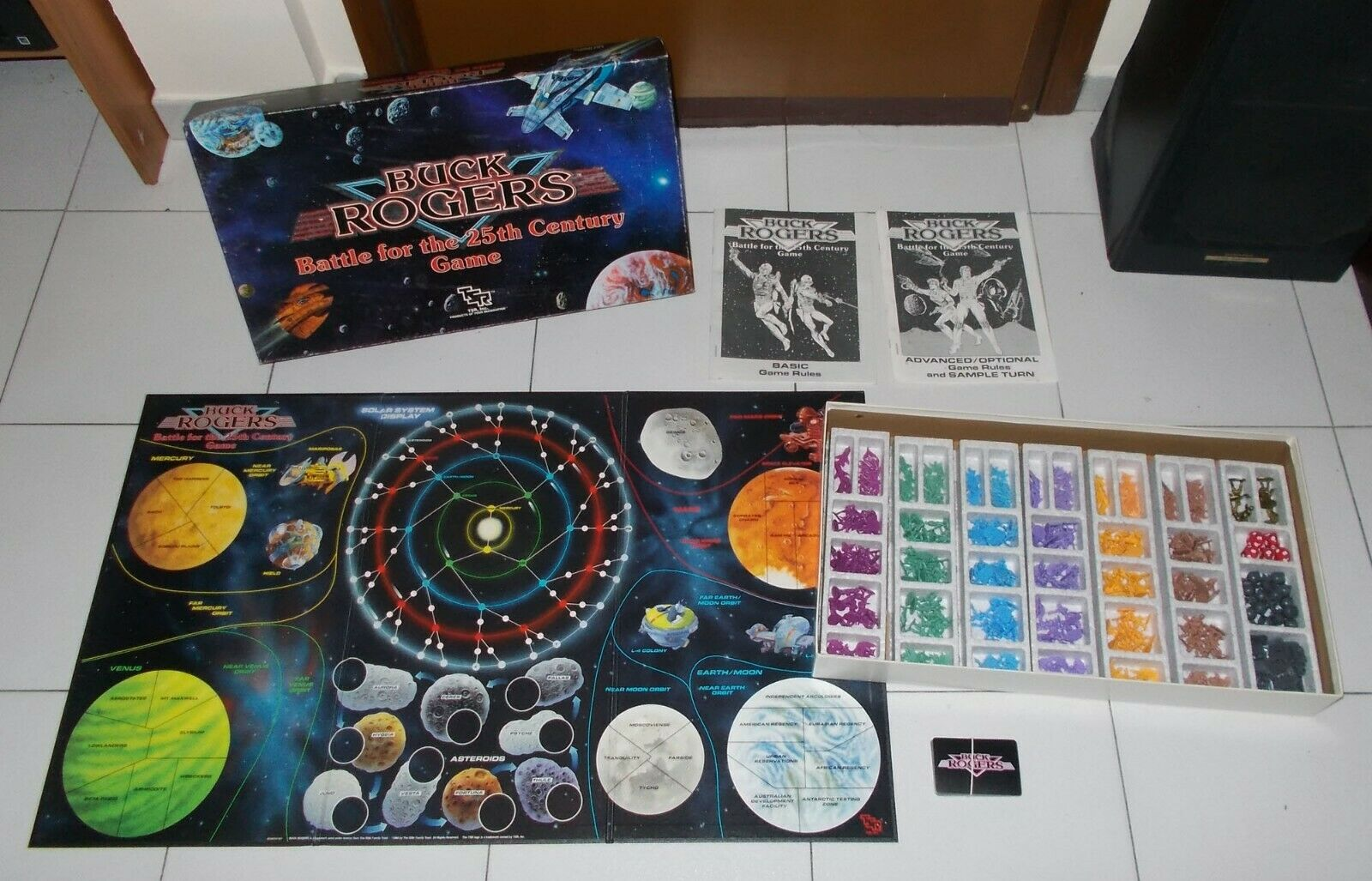 BUCK ROGERS Battle for the 25th Century Century Century Game TSR 1988 OTTIMO COMPLETO a21936