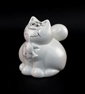 9942883-Porcelain-Money-Box-Cat-Eats-Mouse-Goat-by-W-amp-a-10x14x13cm