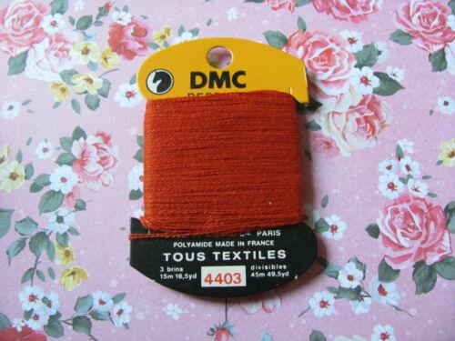 DMC FIL à repriser Tous textiles Rouille 4403