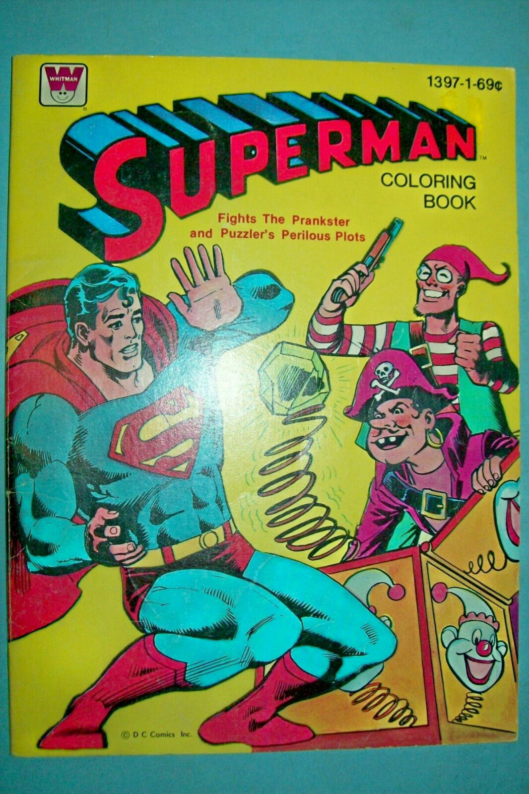 Vintage 1980 Superman coloring Book by Whitman