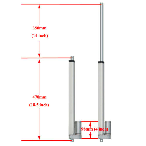 """Set of 2 350mm 14/"""" 12V Linear Actuator W// Wireless Motor Controller for TV Lifts"""