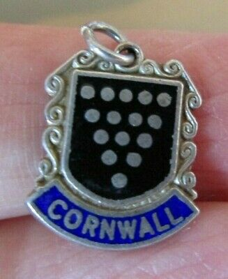 Sterling Silver Cornwall Crest Charm