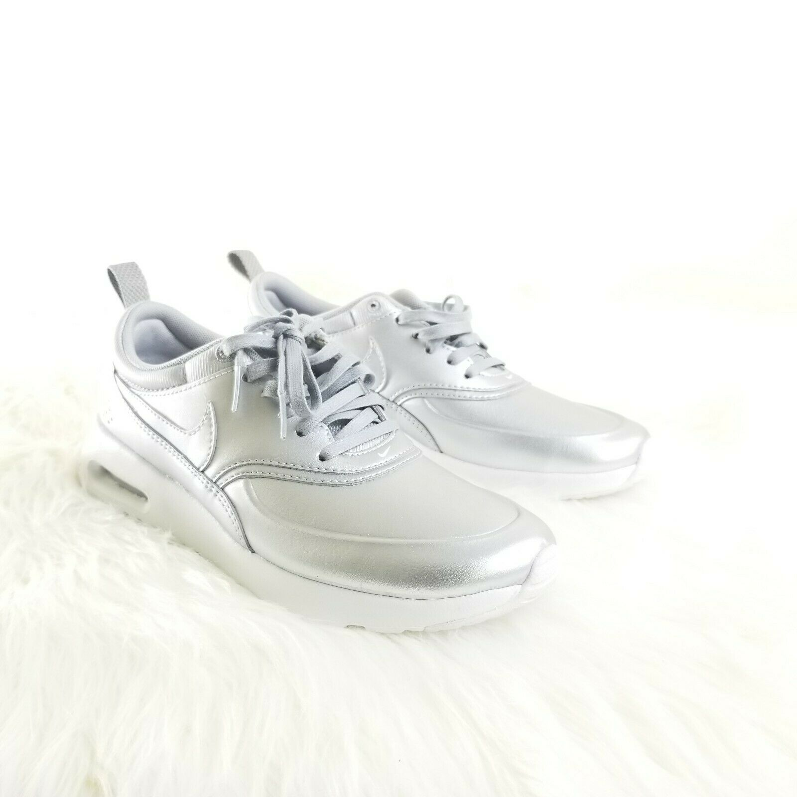 Nike Air Max Thea SE Metallic Silver 861674-001 Special Edition Women Size 6