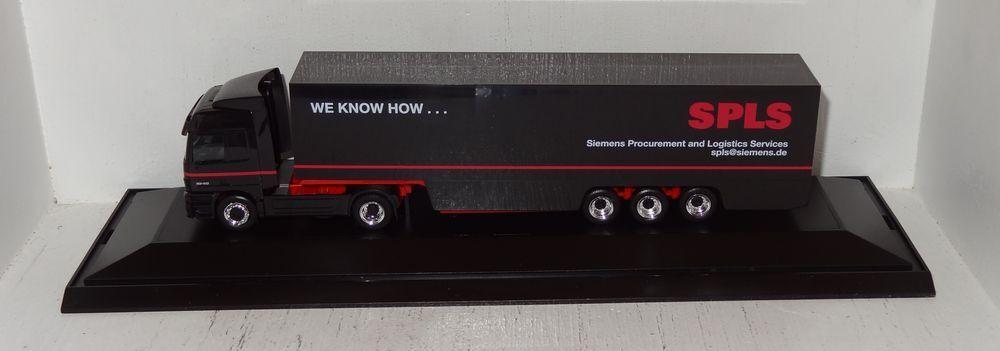 Herpa MB Actros 1848 Siemens SPLS SZ publicitaires Modèle 1 87 dans PC-box  neuf dans sa boîte (r1_4_21)