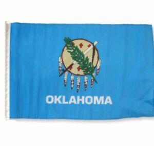 12x18 30.5cmx45.7cm State Of Oklahoma Manche Drapeau Bateau Voiture Jardin Plus De Rabais Sur Les Surprises