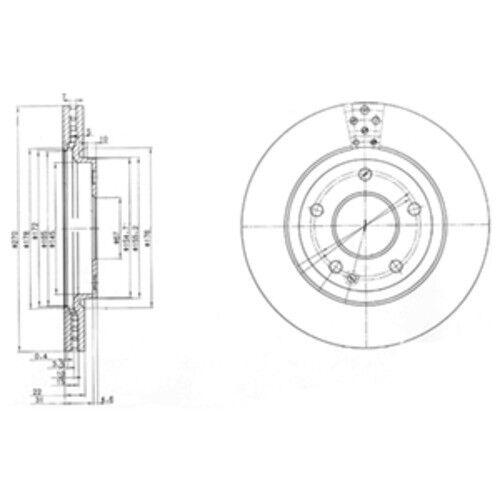 garnitures avant ø270 MERCEDES-BENZ VANEO 3888593 Delphi Disques de frein