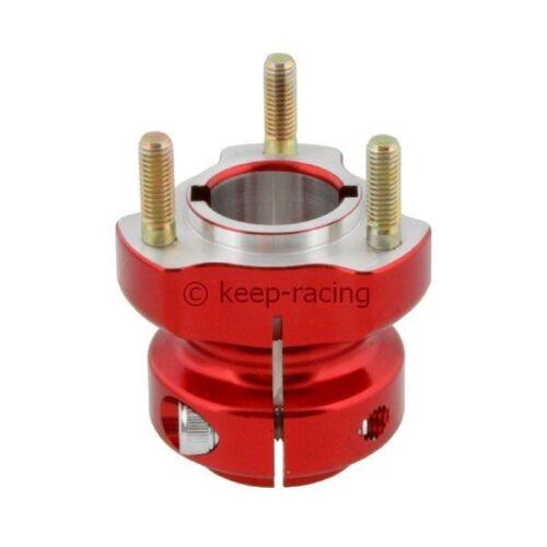 62mm lang Alu rot eloxiert für 30mm Achse Radstern