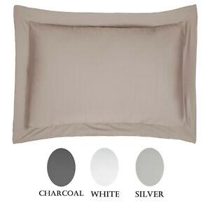 Luxury 100 Cotton Sateen 300 Thread Count Anti Allergy Oxford Pillowcase Pair Ebay