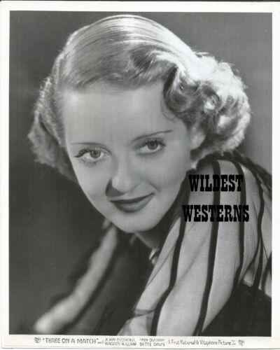 BETTE DAVIS rare VINTAGE ORIGINAL portrait PHOTO Vitaphone