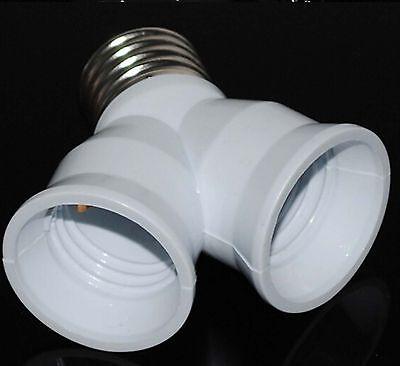 5Pcs E27-2E27 LED CFL Base Light Lamp Bulb Adapter Converter Socket Splitter