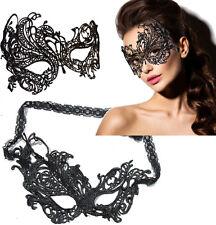 Asymmetrical Victorian Venetian Masquerade Black Lace Elegant Eye Mask Costumes