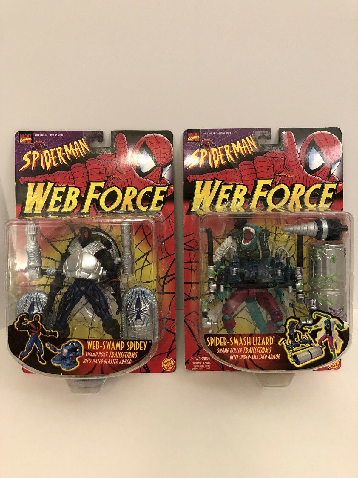NEW Spider-Man Web Force Spidey And Spider-Smash Lizard Action Figures