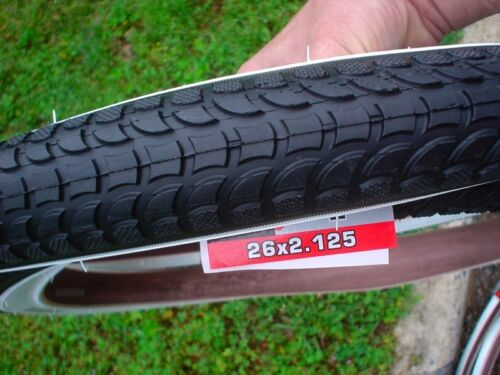 NEW KENDA BALLOON TIRE CRUISER WHITEWALLS 26 X 2.125 TWO TIRES FOR YOUR CRUISER