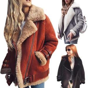 Damenmantel-Winter-Trench-Kunstpelz-Warm-Coat-Lang-Jacke-Parka-Outwear-Tops-neu