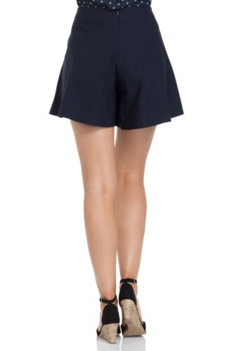 VOODOO VIXEN Vintage Retro Rockabilly Polly navy swing shorts SRA3452 UK8-16