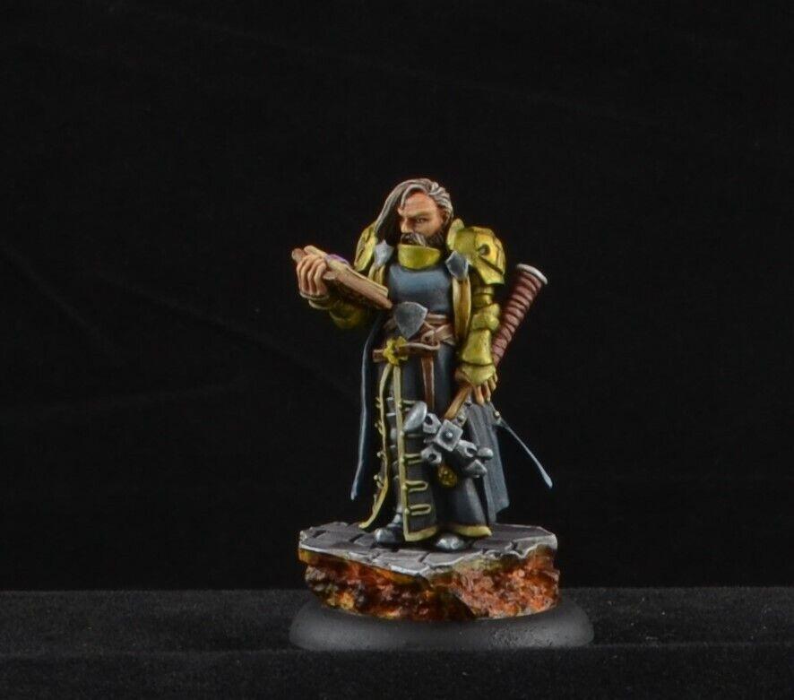 Pintado Halbarad, clérigo de Reaper miniatures, D&D mago y sacerdote personaje masculino