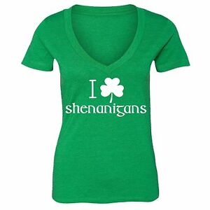 Shamrock Patties Day Tee Blessed and Lucky Women/'s V-Neck T-shirt St Patrick/'s Day Gift for St Malarkey Irish Shenanigans Clover