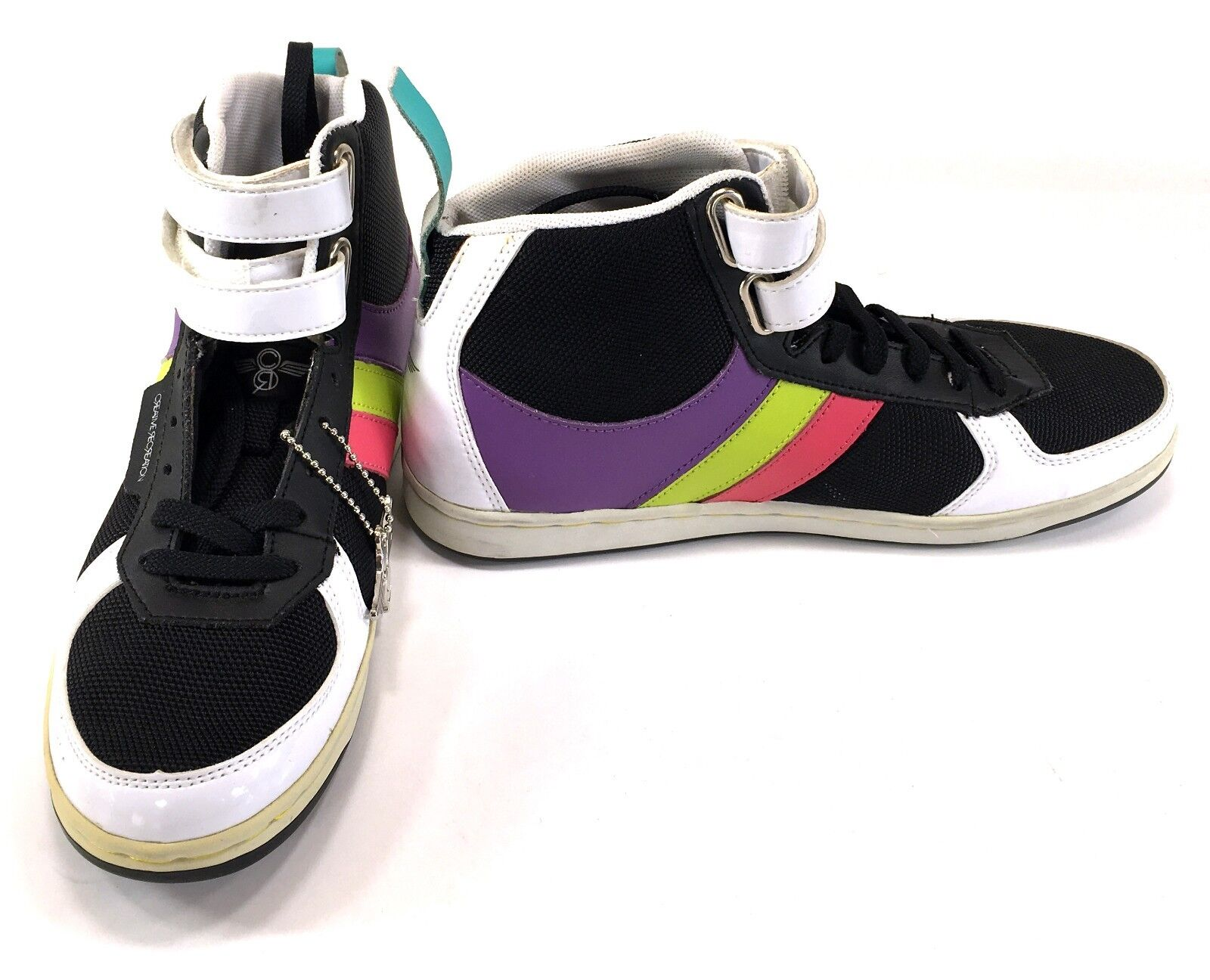 Creative Recreation shoes Mid Dicoco Straps Black Sneakers Womens 6.5