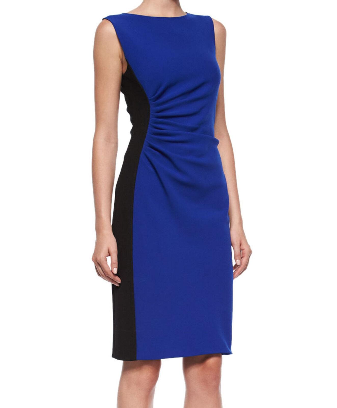 NWT  DVF Diane von Furstenberg Laura Sleeveless Ruched Sheath Dress Größe 0