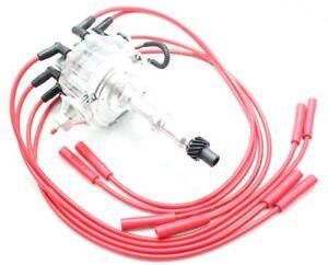 8.5mm USA SPARK PLUG WIRES PONTIAC 301 350 389 400 455 RED HEI DISTRIBUTOR
