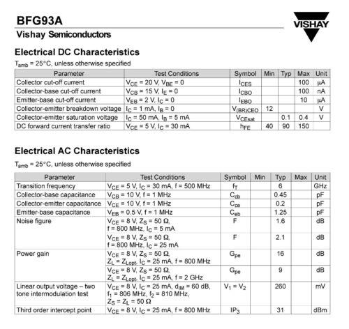 3 Stück BFG93A M2380 BFG 93A SMD Transistoren