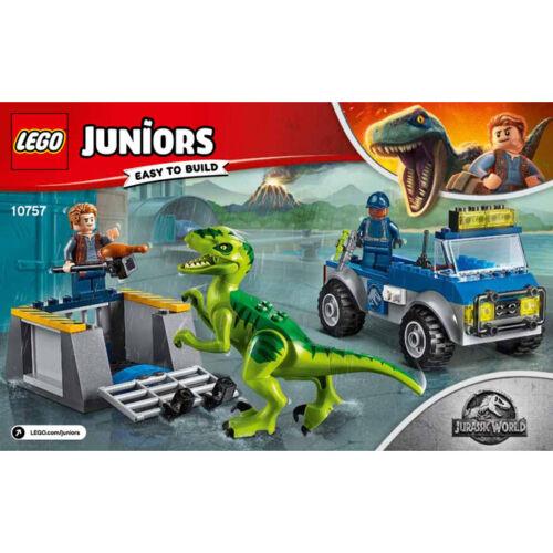 LEGO Juniors 10757 JURASSIC WORLD RAPTOR di soccorso Camion Set NUOVO e SIGILLATO