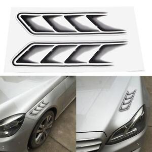 2-teile-satz-Auto-Vent-Luftstrom-Kotfluegel-Decor-3D-Shark-Kills-Auto-Aufkleber
