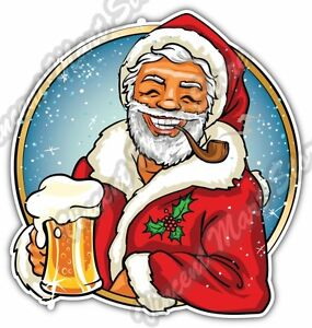 Merry Christmas Funny Images.Details About Smiling Santa Beer Merry Christmas Funny Car Bumper Vinyl Sticker Decal 4 X5