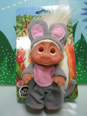 "NEW 1985 TOM THE MIDNIGHT CAT 3/"" Dam Norfin Troll Doll Wildlife Series"