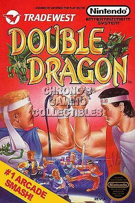 Rgc Huge Poster Double Dragon Box Art Original Nintendo Nes Ddn001 Ebay