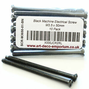 Electrical-Screws-M3-5-x-50mm-in-Black-Nickel-Finish-10-Pack