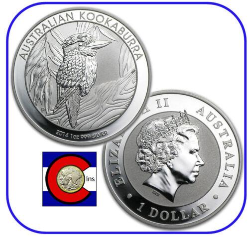 2014 Australia Kookaburra 1 oz BU direct from Perth Mint roll Silver Coin