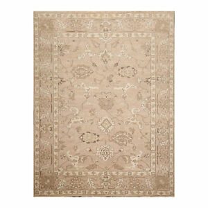 """7'8"""" x 9'11"""" Hand Knotted 100% Wool Peshawar Oushak Oriental Area Rug Taupe 8X10"""