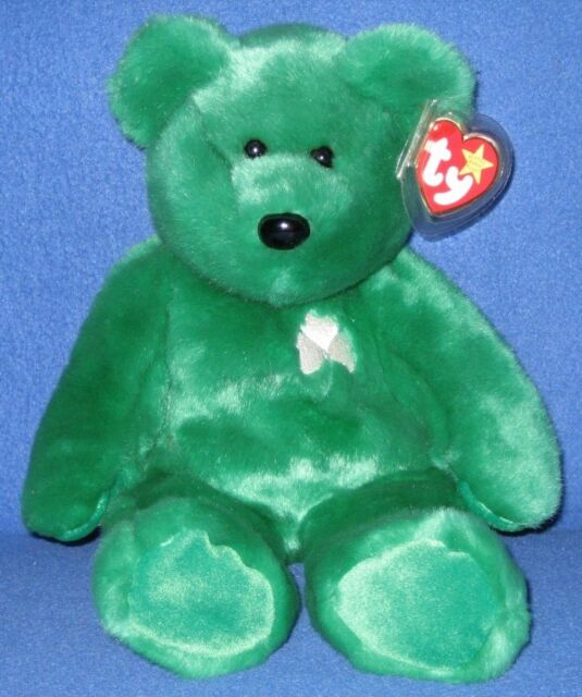 Ty Beanie Buddy Erin Irish Shamrock Bear Large 15
